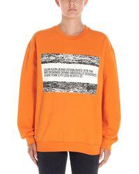 Calvin Klein Orange Cotton Sweatshirt