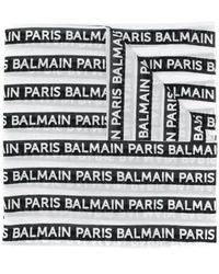 Balmain White Cotton Foulard