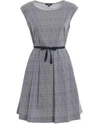 Woolrich - Blue Cotton Dress - Lyst