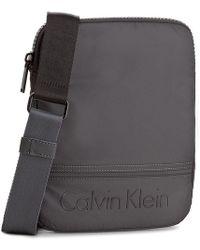 Calvin Klein - Grey Polyester Messenger Bag - Lyst