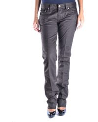 Mauro Grifoni - Brown Cotton Trousers - Lyst