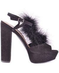 b6d5e5a2f6b Lyst - Steve Madden Marena Slingback Platform Sandal (women) in Black