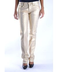 Mauro Grifoni - Gold Cotton Trousers - Lyst