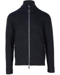 Armani Exchange Black Wool Cardigan