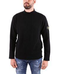 Stone Island Black Wool Sweater