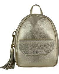 54fc2437c51c Michael Kors Rhea Zip Pale Gold Medium Backpack in Metallic - Lyst