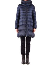 Add Blue Polyester Down Jacket