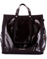 f13caa332e Calvin Klein Large Tote Bag Black in Black - Lyst