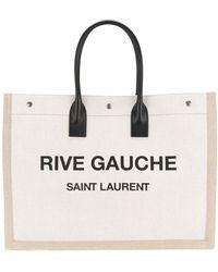 Saint Laurent White Linen Handbag