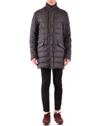 Moncler - Grey Wool Coat - Lyst