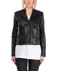 BLK DNM Black Leather Outerwear Jacket