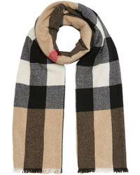 Burberry - Beige Wool Scarf - Lyst