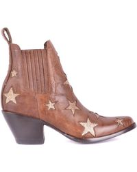 negozio online 3871b 3d81b Brown Leather Ankle Boots
