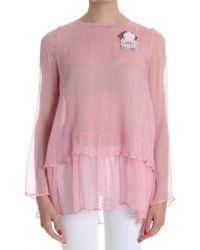Twin Set Pink Silk Jumper