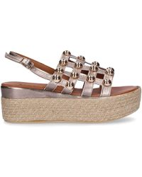 Inuovo - Gold Faux Leather Wedges - Lyst