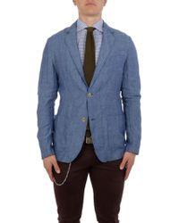 Brooksfield - Blue Linen Blazer - Lyst