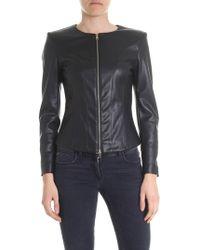 Liu Jo Black Leather Jacket