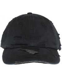 f1d71b0f443d2 Vetements - Black Cotton Hat - Lyst