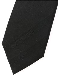 Balmain - Black Silk Tie - Lyst