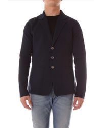 Cruciani - Blue Cotton Cardigan - Lyst