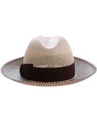 Borsalino - Beige Canvas Hat - Lyst
