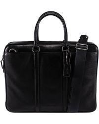 COACH - Black Leather Briefcase - Lyst