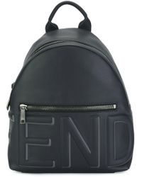 Fendi Blue Leather Backpack