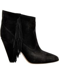 Buttero - Black Suede Ankle Boots - Lyst