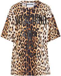 Moschino - Brown Cotton T-shirt - Lyst