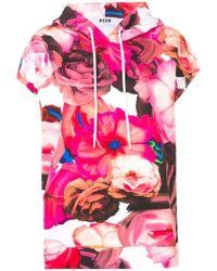 MSGM - Pink Cotton Sweatshirt - Lyst