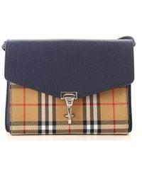 ab32f6b911c0 Lyst - Burberry Leather And Haymarket Check Bucket Crossbody Bag ...