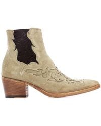 Alberto Fasciani Beige Suede Ankle Boots