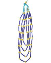 Maliparmi - Blue Plastic Necklace - Lyst