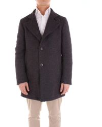 Tagliatore - Grey Wool Coat - Lyst