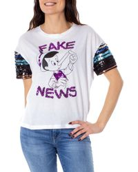 Disney White Cotton T-shirt