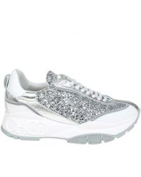 Jimmy Rainecgcsilver Sneakers Women's Leather Choo Lyst In Silver 6fYb7gvy