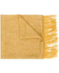 Forte Forte - Gold Silk Scarf - Lyst