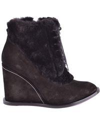 Paloma Barceló - Black Suede Ankle Boots - Lyst