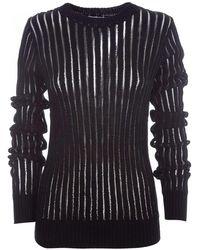 Helmut Lang - Black Cotton Sweater - Lyst