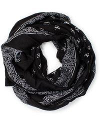 Calvin Klein - Black Viscose Foulard - Lyst