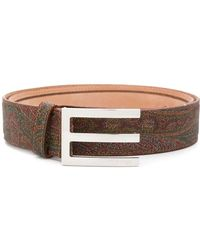 0453e9b7d9e Gucci Multicolor Leather Belt With Rectangular Buckle for Men - Lyst