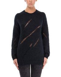 BLK DNM - Black Wool Jumper - Lyst