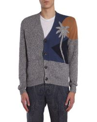 Etro - Multicolor Wool Cardigan - Lyst