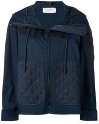 Sportmax Blue Synthetic Fibres Outerwear Jacket