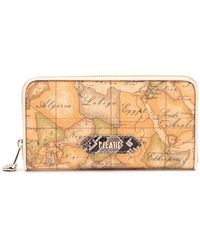 Alviero Martini 1A Classe - Beige Leather Wallet - Lyst