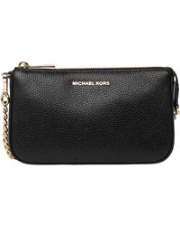 Michael Kors Black Leather Clutch