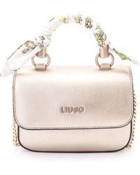 Liu Jo - Gold Polyurethane Handbag - Lyst