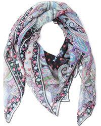 Etro - Multicolour Silk Foulard - Lyst