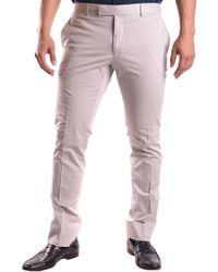 Ralph Lauren - Grey Cotton Pants - Lyst