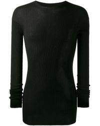 Rick Owens - Black Wool Sweater - Lyst